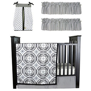 Trend Lab Baby Crib Bedding Set, 6 pc. - Medallions