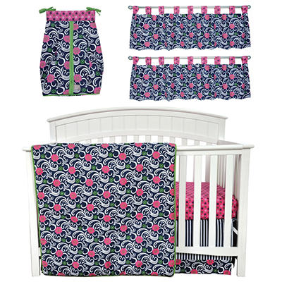Trend Lab Baby Crib Bedding Set, 6 pc. - Lucy
