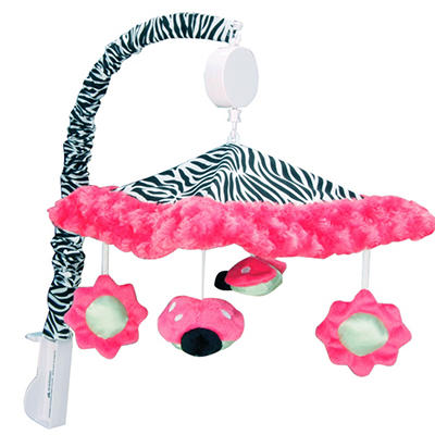 Trend Lab Musical Mobile - Zahara Zebra
