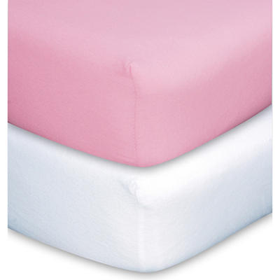 Trend Lab Crib Sheet - Pink & White