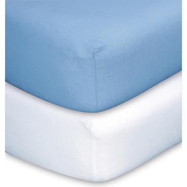 Trend Lab Crib Sheets  Blue & White