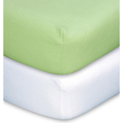 Trend Lab Crib Sheet - Sage & White