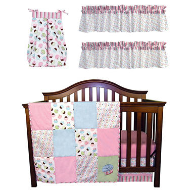 Trend Lab Baby Crib Bedding Set, 6 pc. - Cupcake