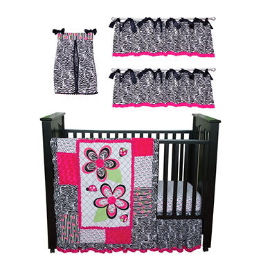 Trend Lab Baby Crib Bedding Set, 6 pc. - Zahara Zebra