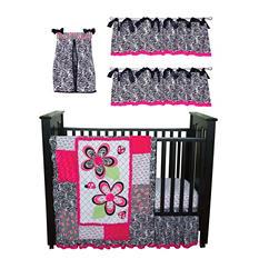 Trend Lab Baby Crib Bedding Set, 6 pc. - Zahara Zebra