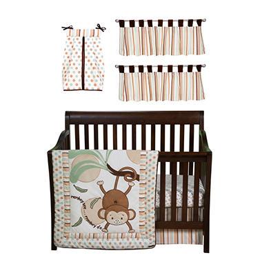 Trend Lab Baby Crib Bedding Set, 6 pc. - Morgan The Monkey