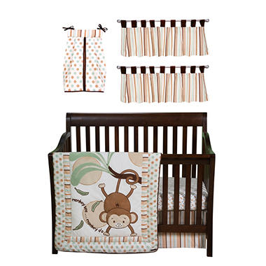 Trend Lab Baby Crib Bedding Set, 6 pc. - Morgan The Monkey