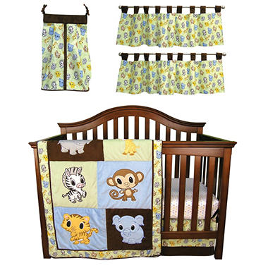 Trend Lab Baby Crib Bedding Set, 6 pc. - Chibi Zoo
