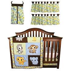 Trend Lab Baby Crib Bedding Set, 6 pc. - Chibi Zoo