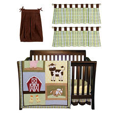 Trend Lab Baby Crib Bedding Set, 6 pc. - Baby Barnyard