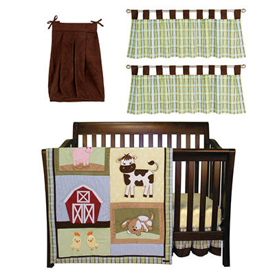 Trend Lab Baby Crib Bedding Set, 6 pc. - Baby Barnyard