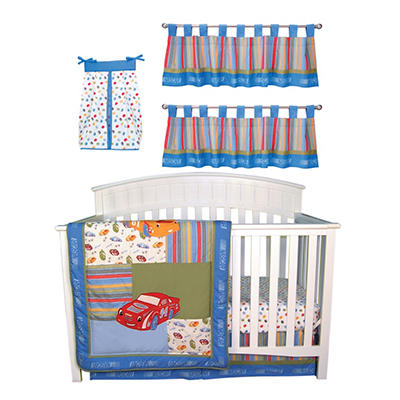 Trend Lab Baby Crib Bedding Set, 6 pc. - Nascar