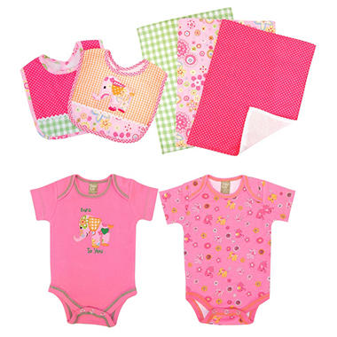 Trend Lab Baby Gift Set - Elephant - 7 pc.