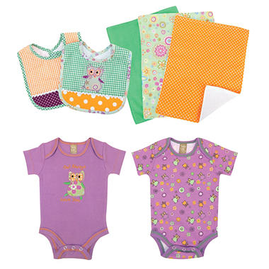 Trend Lab Baby Gift Set - Owl - 7 pc.