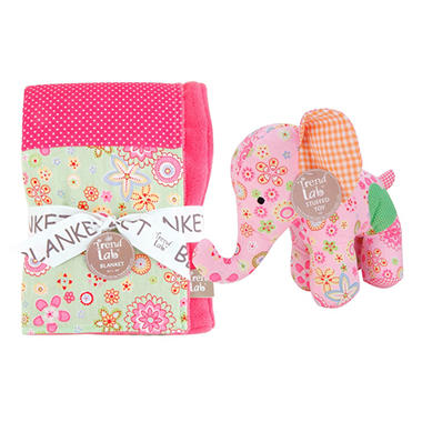 Trend Lab Baby Gift Set - Elephant - 2 pc.