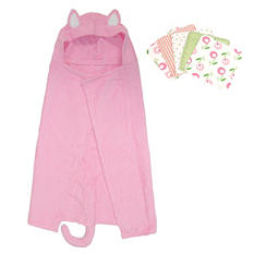 Trend Lab Hooded Towel and Wash Cloth Set - Kitty - 6 pc.