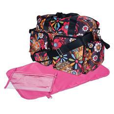 Trend Lab Deluxe Duffle Diaper Bag, Bohemian Floral