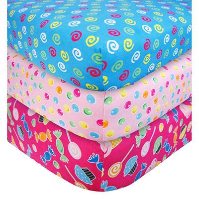 Trend Lab Crib Sheet Set - Gumdrop Candy Swirls