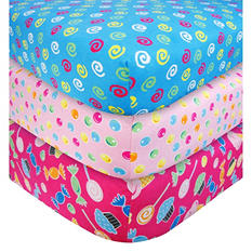 Trend Lab Crib Sheet Set - Gumdrop Candy Swirls