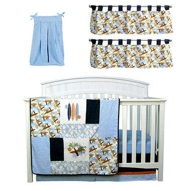 Trend Lab Baby Crib Bedding Set, 6 pc. - Surf's Up