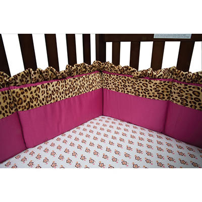 Trend Lab Crib Bumper - Berry Leopard