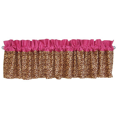 Trend Lab Window Valance - Berry Leopard