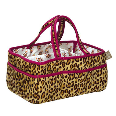 Trend Lab Storage Caddy  - Berry Leopard