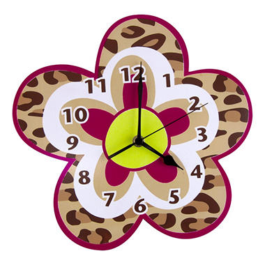 Trend Lab Wall Clock - Berry Leopard