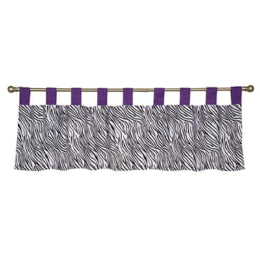Trend Lab Window Valance - Grape Expectations