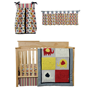 Trend Lab Crib Bedding Set, 5 pc. - Elephant Parade