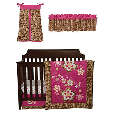 Trend Lab Baby Crib Bedding Set, 5 pc. - Berry Leopard