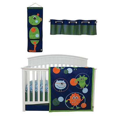 Trend Lab Baby Crib Bedding Set, 5 pc. - Snuggle Monster