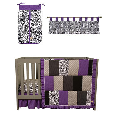 Trend Lab Baby Crib Bedding Set, 5 pc. - Grape Expectations