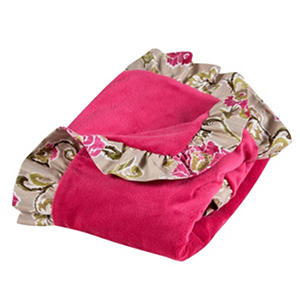 Waverly Jazz Receiving Blanket, Jazzberry Floral