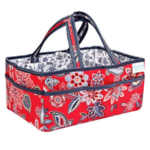 Waverly Charismatic Diaper Caddy, Cherry Floral