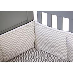 Trend Lab Crib Bumper, Dove Gray Chevron