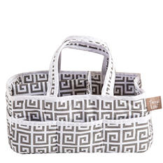 Trend Lab Storage Caddy, Gray Greek Key