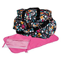 Trend Lab Deluxe Duffle Diaper Bag, Turquoise Floral
