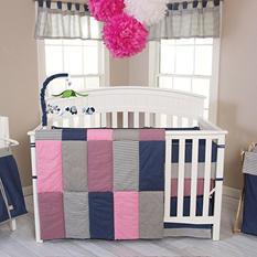 Trend Lab 3-Piece Crib Bedding Set, Perfectly Pretty