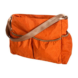 Trend Lab Crinkle Tote Diaper Bag, Orange