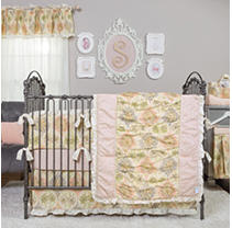 Click here for Waverly Rosewater Glam 3-Piece Crib Bedding Set  K... prices