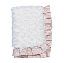 Click here for Waverly Rosewater Glam Baby Blanket  Rosette prices