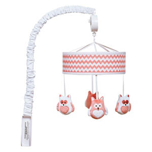 Trend Lab Musical Mobile, Coral Chevron