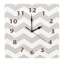 Trend Lab Wall Clock, Dove Gray Chevron