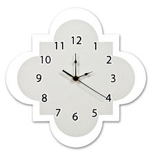Trend Lab Wall Clock, Gray Quatrefoil