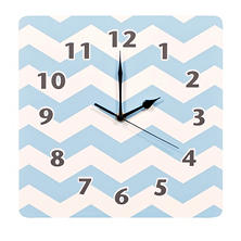 Trend Lab Wall Clock, Blue Sky Chevron