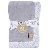 Trend Lab Framed Receiving Blanket, Gray and White Circles