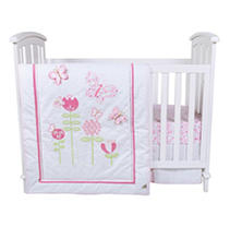 Click here for Trend Lab 6 - Piece Crib Bedding Set  Floral Fun prices