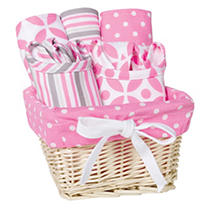Click here for Trend Lab 7 - Piece Feeding Basket Gift Set  Lily prices