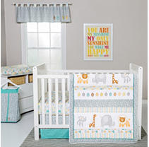 Click here for Trend Lab 6-Piece Crib Bedding Set  Lullaby Jungle prices